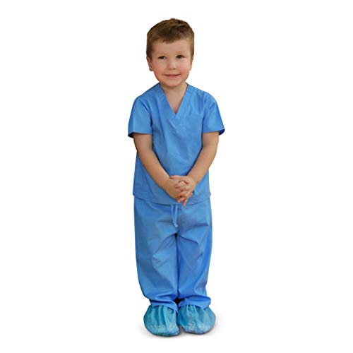 Scoots Toddler Scrubs, Blue, 4T -