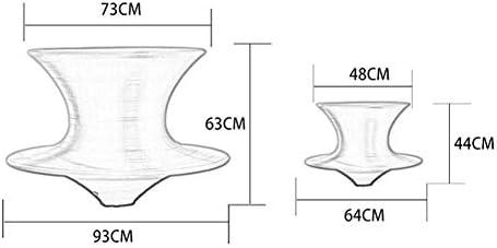 360 ° Rotating Tumbler Tabouret de bar Party KTV Mall Jouer président D1127 (Color : Black, Size : Big)