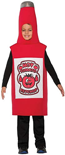 Forum Novelties 78095 Kids Ketchup Costume, One Size, Pack of 1 -