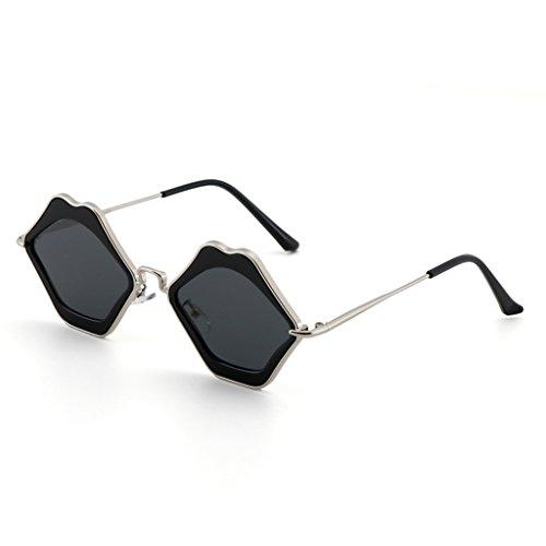 La Negro Gafas Sol Personalidad De De Sol New Sunglasses Color De Rojo Lips WANGXIAOLIN Gafas UBqvgv