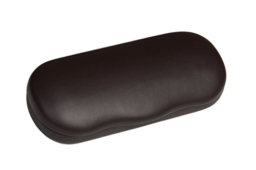 Hard Metal Bodied Eyeglass Case for Medium Frames in Matte Finish in Brown