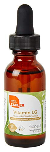 Zahler VITAMIN D3 LIQUID Drops 5000IU, An All-Natural Supplement Supporting Bone Muscle Teeth and Immune System, Certified Kosher, 1oz Dropper