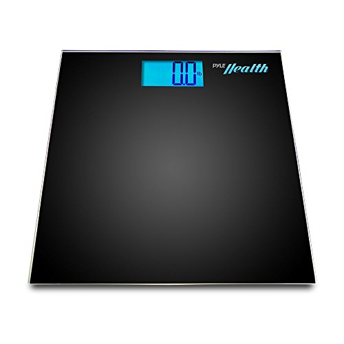Pyle Smart Bathroom Scale Bluetooth - iPhone Health Devices, Wireless Smartphone Tracking for iPhone iPad & Android Devices - PHLSCBT2BK (Black)