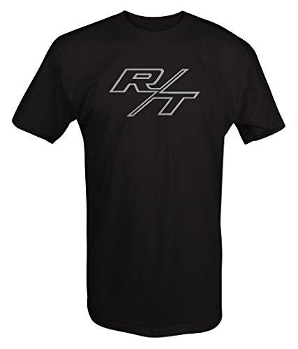 (Stealth - R/T RT Dodge Mopar Charger Challenger Hemi V8 Muscle Car Logo T shirt - Large)