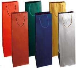 12 Shopper VINO carta plastificata colori assortiti