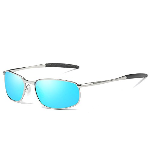 sol TIANLIANG04 Plata gafas conducción de estilo gafas polarizadas anti gafas UV400 sol de hombres polarizadas Silver deslumbramiento moda de de Blue gafas Negro UrrHqtx