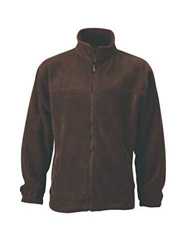 Full zip Uomo Giacca Sportiva Fleece In Brown Pesante q8HzXwOvpw