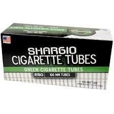 Shargio Green 100's Cigarette Tubes (250 Per Box) Cigarette Rolling Tubes
