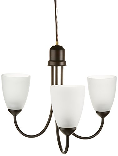 Bronze Antique Three Chandelier Light (Progress Lighting P4440-20 Gather Collection 3-Light Chandelier, Antique Bronze)
