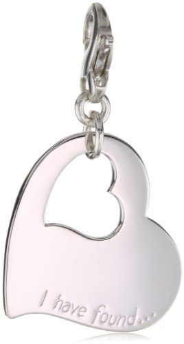 Carolee Charm - Carolee LUX Sterling Charms Sterling Silver Open Heart Charm