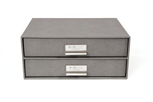 Bigso 2 Drawers Birger File Box, Grey