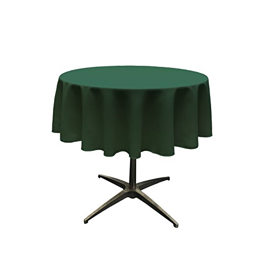 LA Linen Polyester Poplin Tablecloth 51-Inch Round, Green ()