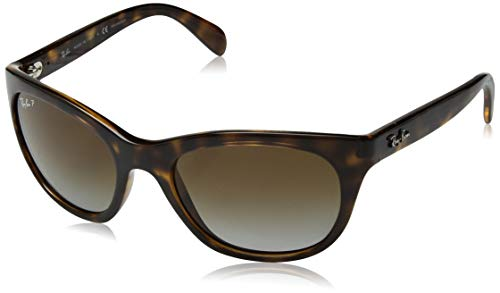 Ray-Ban Women's Rb4216 Square Sunglasses, Light Havana, 56.6 -