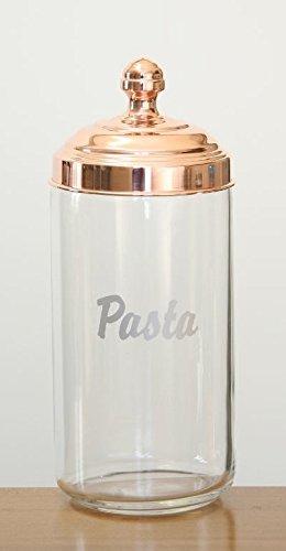 ITALO OTTINETTI barattolo di vetro in rame lucido, pasta, 1.5litri, colore metallizzato, taglia unica Italo Ottinetti_6659QPA150