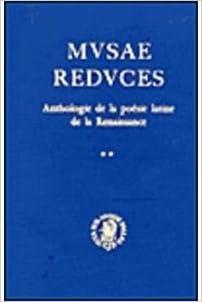Livre gratuits Musae Reduces  (2 Volume Set: Anthologie De LA Poesie Latine Dans I'Europe De LA Renaissance pdf, epub ebook