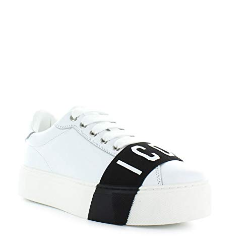 2019 Dsquared2 Icon Chaussures Blanc Baskets Hiver Femme Automne 00qwr8P