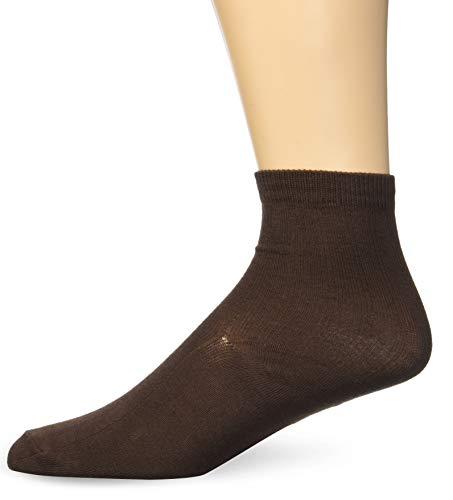 Jefferies Socks Big Boys' Rib  Crew Socks (Pack of 3), Chocolate, Medium - Brown Kids Apparel Chocolate Big