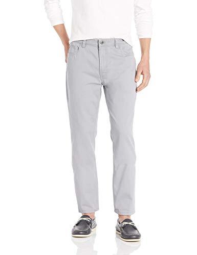 Arrow Men's Big and Tall 5 Pocket Straight Fit Twill Pant, Smoked Pearl, 46W x 29L