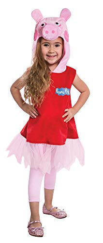 Girl's Peppa Pig Outfit Funny Theme Party Toddler Halloween Costume, Toddler 2T]()