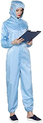 Reusable Protective Clothing, Dust-Proof and Anti-Static,Protective Suit with Zip Front Opening