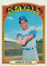 - 1972 Topps Regular (Baseball) Card# 10 Amos Otis of the Kansas City Royals VGX Condition