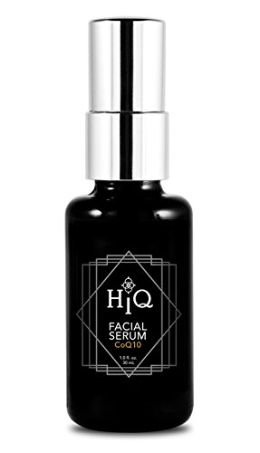 CoQ10 Anti Aging Face Serum by HiQ Cosmetics | Antioxidant Rich, Natural Skin Care | Best Coenzyme Q10, Hyaluronic Acid, and Peptide Serum | 30 mL / 1 fl. oz.