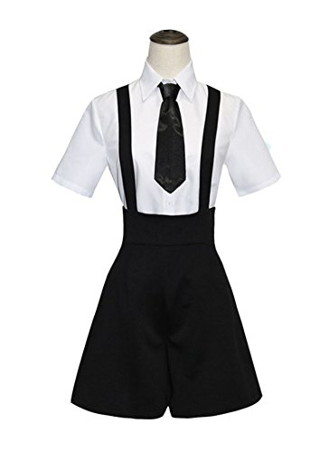 Wish Costume Shop Land of The Lustrous Cosplay Costume Womens Anime Gems Suit Full Set (XL, Black)