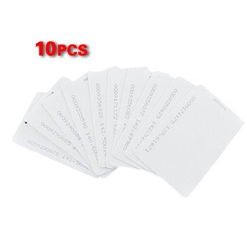 SODIAL(R) 10 x Tarjeta de Proximidad Acceso 125Khz 1.9mm RFID - Blanco