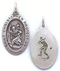 Amazon Com St Christopher Sterling Silver Reversible