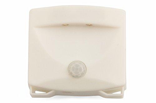 Kooper – 2415259 Flash Luz LED con sensor de movimiento a batería, Blanco