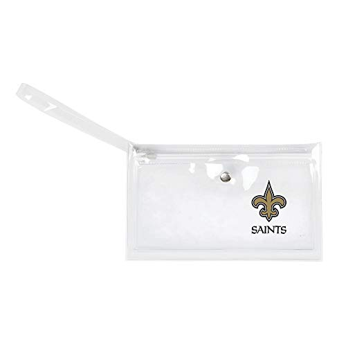 New Orleans Saints Game Tickets - Littlearth - LIWXY NFL New Orleans Saints Unisex Nflnfl Ticket Wristlet, Clear, 9