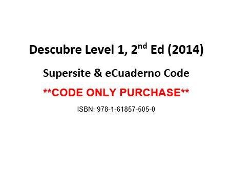 Descubre Level 1, 2nd Ed, Supersite & eCuaderno Code - CODE ONLY ebook