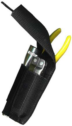 Ripoffs Utility Combo Holster for Mini Flashlight, Knife, Plier, or Scissors CO7 (Side Clip)