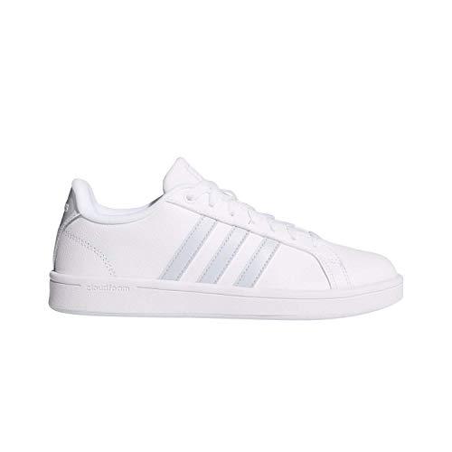 adidas Women's CF Advantage Sneaker,White, Aero Blue s, Core Black, 8 M US