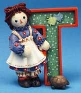 Raggedy Ann and Andy - T Is For Turtle Decorative - Andy Ann And Raggedy Collectibles