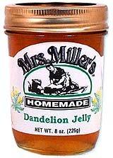 Dandelion Jelly: 3 Jars Mrs. Miller's Homemade by Mrs. Miller's