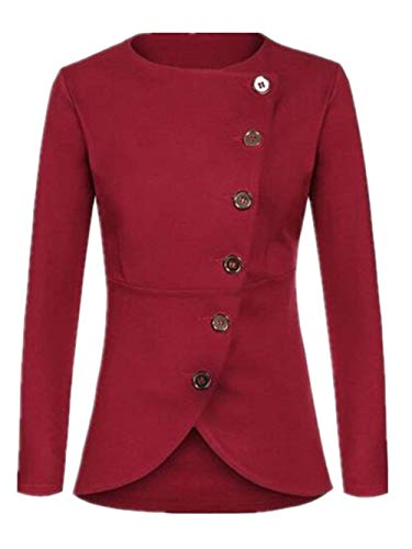 Unicolore Printemps Femme Automne Manteau Jacket tq8UcWZn
