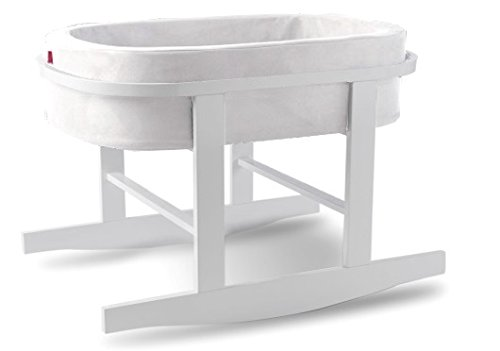 Monte Design Ninna Nanna Bassinet - WHite Colored Basket with White Base