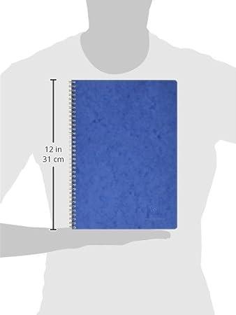 Clairefontaine 785964C Spiralbuch Age Bag liniert, 9,5 x 14 cm, 50 Blatt, blau, 1 St/ück