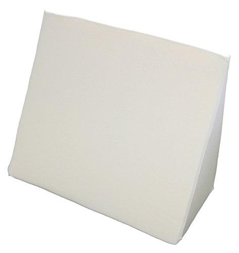 beties Big Comfy Q2 Keilkissen extra groß + Baumwoll Jersey Bezug ca. 62x49x30 cm in vielen bunten Farben (Weiß)