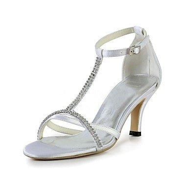 RTRY Las Mujeres'S Wedding Shoes Bomba Básica De Satén Stretch Verano Boda &Amp; Noche Crystal Stiletto Talón Blanco 2A-2 3/4En Blanco Us5.5 / Ue36 / Uk3.5 / Cn35 US9.5-10 / EU41 / UK7.5-8 / CN42