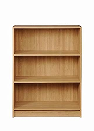 timber art design low wide bookcase storage display shelving oak