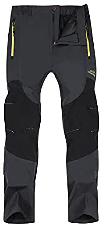 Singbring Women's Outdoor Lightweight Waterproof Hiking Mountain Pants X-Small Grey(608)