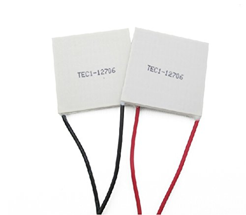 DAOKI 2PCS TEC1-12706 12V 60W Heatsink Thermoelectric Cooler Cooling Peltier Plate Module 12V 6A