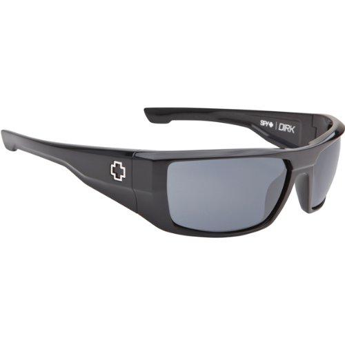 Spy Dirk Sunglasses - Spy Optic Steady Series Sports Wear Eyewear - Shiny Black/Grey / One Size Fits - Spy Sunglasses Optic Dirk