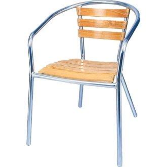 Garden/diseño cilíndrico sillón silla - aluminio y madera de ...