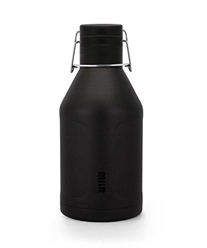MiiR Insulated Growler Bottle, Black, 64-Ounce