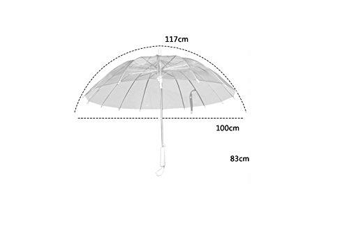Hombre Y Mujer Retro Paraguas Transparente Mango Largo Paraguas Transparente Paraguas De Negocios (Color : Blanco) : Amazon.es: Hogar