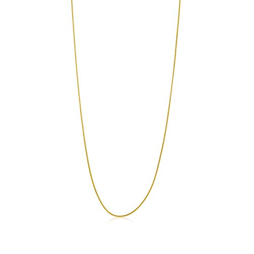 (The Bling Factory Thin 1.2mm 14k Gold Plated Stainless Steel Snake Chain w/Lobster Clasp, 18 inches)