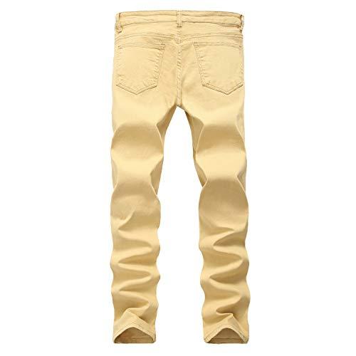 Skinny Stretch Jeans Fashion 40 Dal Attillati Regolare Da Uomo Aderenti Pantaloni Denim Jeans Taglio Mpiosy w7xqCnaC